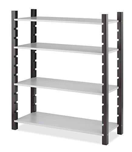 Whitmor Adjustable Wood Utility Shelf 4-Tier Walnut & Gray by Whitmor