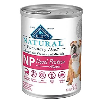 Blue Natural Veterinary Diet NP Novel Protein Alligator Grain-Free Canned Dog Food 6/12.5 oz