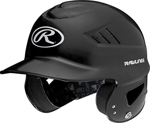 Rawlings Coolflo NOCSAE Molded Batting Helmet, Black, One - Helmet Baseball