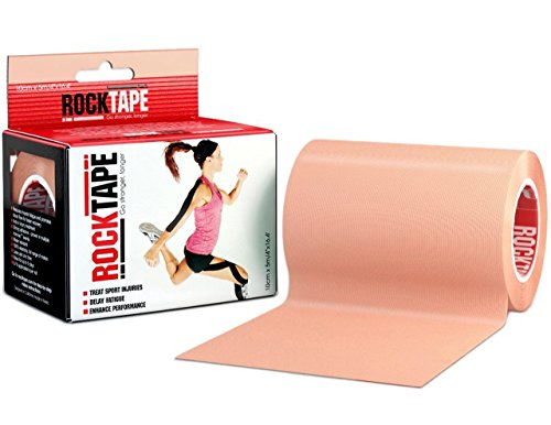 RockTape Kinesiology Tape, Extra Wide 4-Inch Tape for Larger Muscle Groups, Active-Recovery For Athletes, Uncut Roll - Extra Wide
