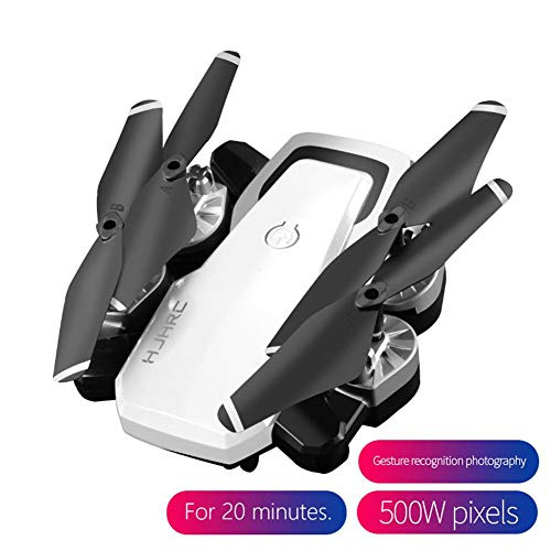 20 Minutes Long Battery Life Drone Folding 5MP Camera + Gesture Video+Height Set Mode+ Headless Mode +One Key Return +1800mAH Battery WiFi Real-Time Transmission + 360° Rotation+