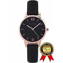 BRIGADA Swiss Watches for Women, Fashion Quartz Waterproof Ladies Watches for Girls Women (Dreamlike Black)