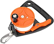 150ft Compact Portable Card Position 150ft Dive Reel, Diving Line Wheel, for Underwater Diving/Cave Wreck Divi