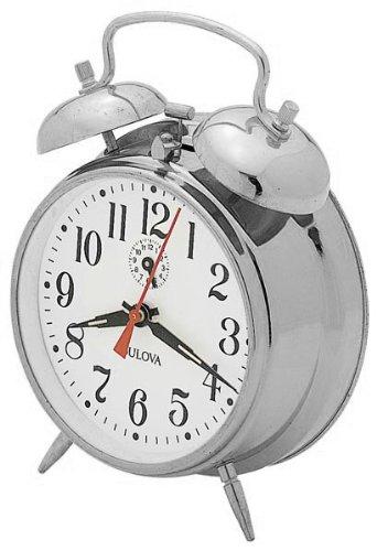 Bulova B8127 Bellman II Clock, Chrome (Bulova Desk Clock)