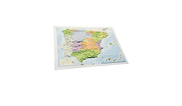 Mapa en relieve España político: Escala 1:3.500.000: Amazon.es: ALL 3D Form S. L.: Libros