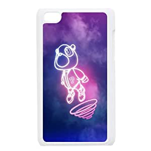 iPod Touch 4 Case White Drop Out Bear Of Kanye Illust Music D1D9YJ