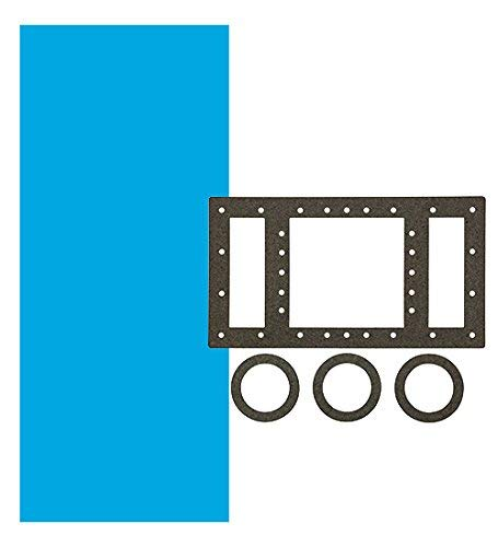 Smartline Solid Blue 18-Foot Round Liner | Overlap Style | 48-or-52-Inch Wall Height | 20 Gauge Virgin Vinyl | Designed for Steel Sided Above-Ground Swimming Pools | Universal Gasket Kit Included