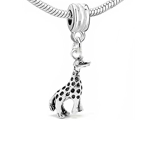 """ Giraffe "" 3d Dangle Charm Bead For Snake Chain Charm Bracelet"