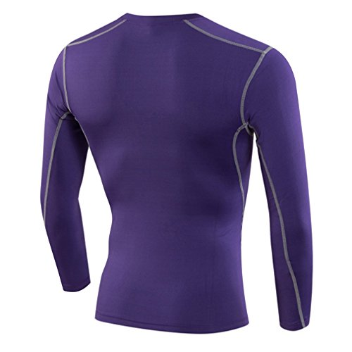 Sanke メンズ 長袖 コンプレッション スポーツ シャツ UVカット 吸汗速乾 コンプレッションウェア ツーリング バイクウエア アンダーウェア ゴルフ ジョギング トレーニング 男性