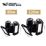 Smiling Shark LED 120W Garage Light with Motion