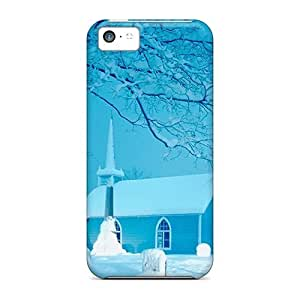 Iphone 5c Case, Premium Protective Case With Awesome Look - Snow Scenary