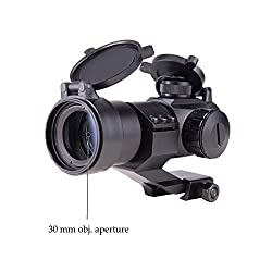 Pinty 4 MOA Red Green Dot Tactical Reflex Sight with Picatinny Cantilever Mount