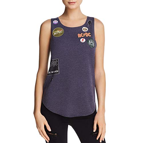 - CHASER Women's Vintage Jersey Oversized Side Lace-Up Cap Sleeve Dolman Avalon Large