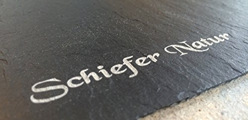 1 Stk Schiefertafel MEMOBOARD Tafel 60x30cm Schieferplatten