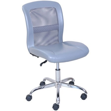 Mainstays Vinyl and Mesh Task Chair, Multiple Colors, Gray (1)