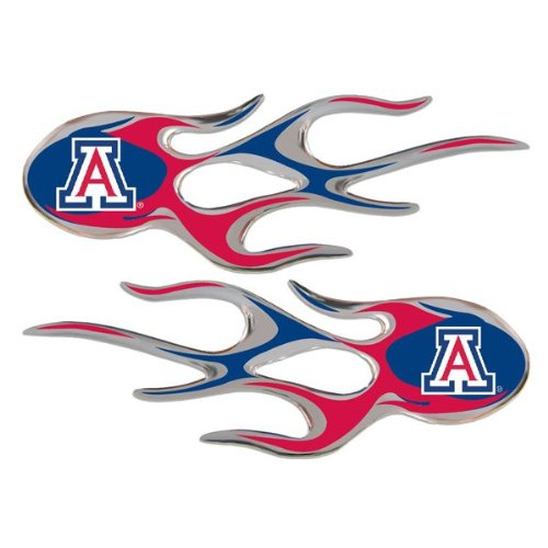 Arizona Wildcats Micro Flames Auto Decal 2 Pack for Car Truck Motorcycle Bike Mailbox Locker Sticker College Licensed Team Logo by NCAA