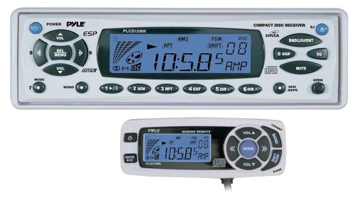 PYLE PLCD15MR AM/FM-MPX In-Dash Marine CD/MP3 Player with Full Face Detachable Panel and Wired Remote