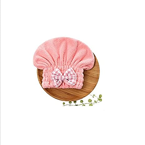 SUxian Diseño Moderno Gorro de Lana Absorbente Gorro de Baño seco Gorro de Baño de Toalla de Baño seco Gorro de Ducha-Rosa: Amazon.es: Hogar