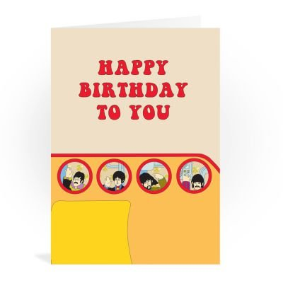 The beatles happy birthday to you yellow submarine greeting card the beatles happy birthday to you yellow submarine greeting card m4hsunfo