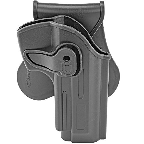 Tactical Grade 360° Swivel Paddle Holster for Beretta 92 or 92FS Military Law Enforcement Black Polymer Holster Affordable