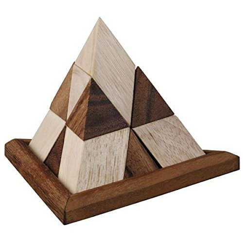 BRAIN GAMES Wooden Pyramid Puzzle 14 (Ball And Chain Chords)