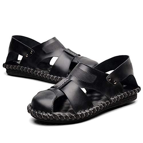 Sandali Sandali Sandali 24 Scarpe pantofole Nero 0 Antiscivolo 27 Esterni CM Wagsiyi da Da spiaggia Estivi pelle In Uomo 0 Traspiranti Bxy5dwSI8q