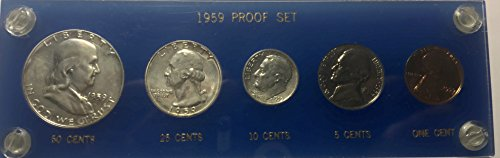 1959 P US MINT Proof set Comes in Hard Plastic Case (1959 Mint Set)