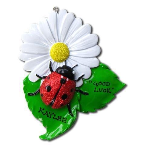 Ladybug Personalized Christmas Tree Ornament