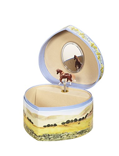 Enchantmints Love of Horses Music Jewelry Box
