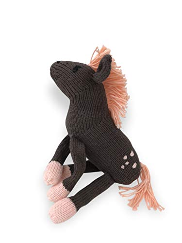 (Finn + Emma Rattle Buddy Organic Cotton Knit Rattle for Baby Boy or Girl – Molly The Horse)