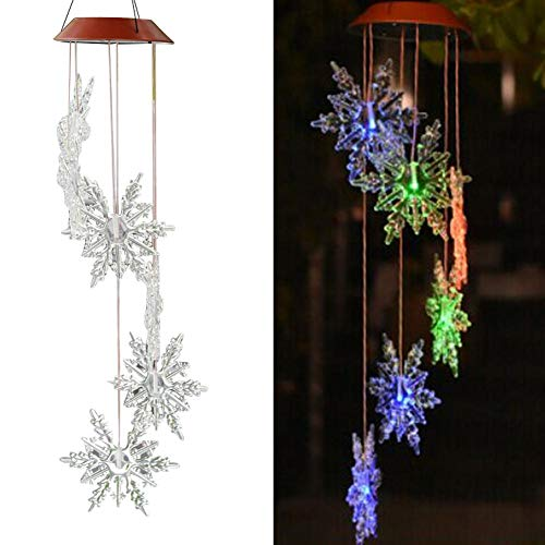 Feileng LED Color-Changing Led Solar Wind Chimes Outdoor ,for Home, Party,Christmas, Garden, Yard Decoration,Festival Decor