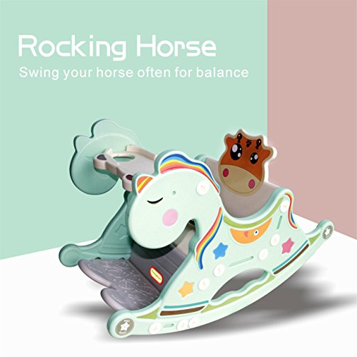 Gupamiga Rocking Horse Child Kids Portable and Rocking chair Baby Dining Table by Gupamiga