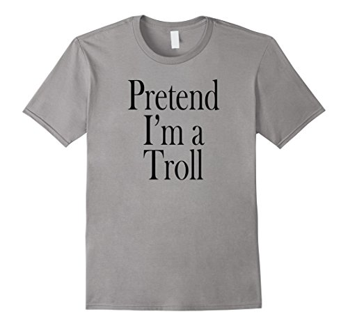 Minute Man Costume (Mens Troll Costume T-Shirt for the Last Minute Party Large Slate)