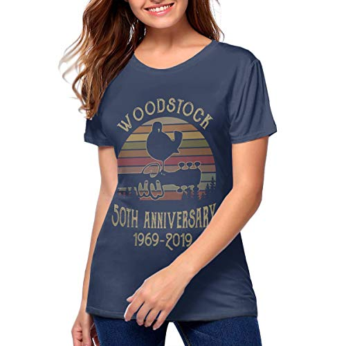 SheilaCHENMontroy Womans Woodstock 50th Anniversary 1969 2019 T Shirts L ()