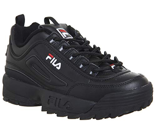 Fila Women's Disruptor II Sneaker (7.5, Black White Red)