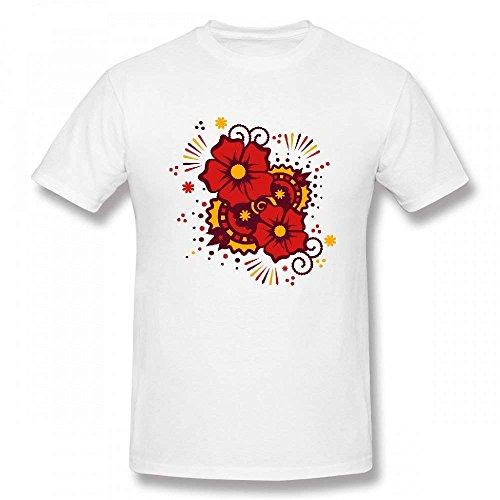 A Mehndi Flower Tattoo Customizable Personalized Men's T-Shirt Tee