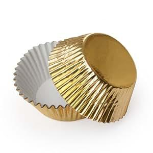 Dress My Cupcake Mini Gold Foil Cupcake Liners