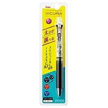 Pentel VICUNA XBXC457 PLAN + MEMO Multifunctional Pen (0.7mm Black, Red and Blue Ink + 0.5mm Black Ink) - Transparent Barrel
