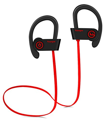 [DESIGNED FOR SPORT] Wireless Bluetooth Headphones MRS LONG Wireless Sport Earphones w/ Mic IPX7 Waterproof Bluetooth Sweatproof Headphones HD Stereo Noise Cancelling Running Headphone for Gym Workout