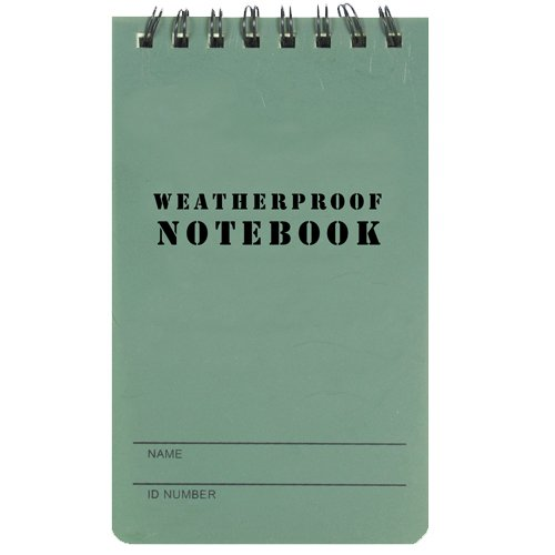 Fox Outdoor Products Military Style Weatherproof Notebook, Olive Drab, 3-Inch X 5-Inch 39-030