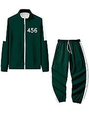 Squid Game Jacket Costume Outfit 067 001 456 218 240 212 Halloween Cosplay Suit 2XS-4XL Plus Size Cardigan Rits Sweatshirt Met Lange Mouwen Zonder Hoodie