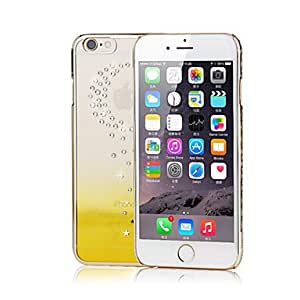 LCJ Moon Star Rhinestone Plating PC Back Cover for iPhone 5/5s (Assorted Colors) , Yellow