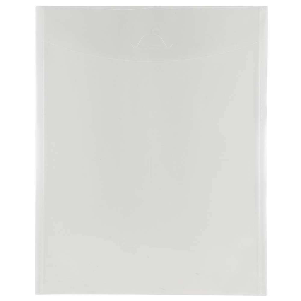 JAM PAPER Plastic Envelopes with Tuck Flap Closure - Open End - 11 x 14 - Clear - 12/Pack