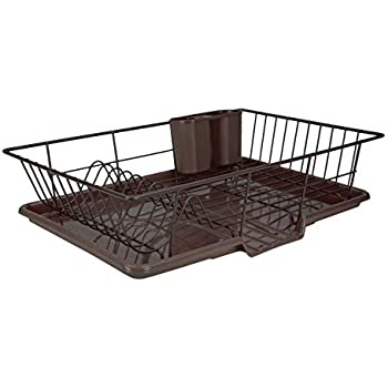 Amazon Com Home Basic 3 Piece Vinyl Coated Steel Dish