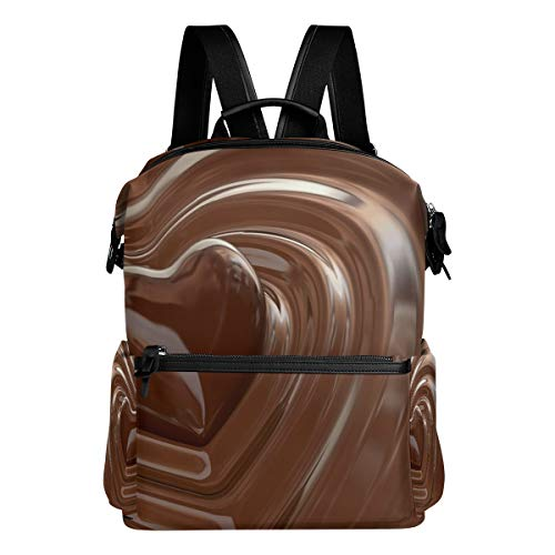 Valentine's Day Chocolate Love Backpack Womens Laptop Daypack School Hiking Mens Travel Bags Adults