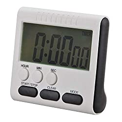 Vistaric Magnetic Large LCD Digital Timers Kitchen Timer Cooking Timer Count Up Down Alarm Clock 12 Hours with Stand