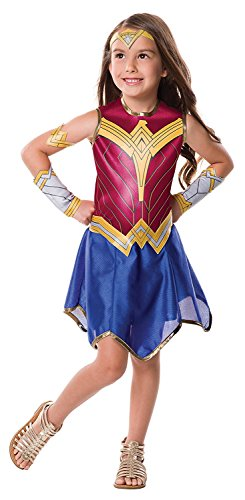 Rubie's Costume Girls Justice League Wonder Costume, Small, Red / Blue / Gold