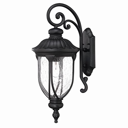 ns Collection 1-Light Wall Mount Outdoor Light Fixture, Matte Black (Aluminum Medium Exterior Wall Mount)