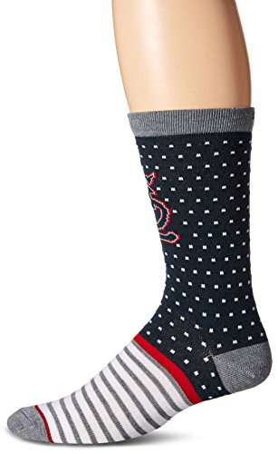MLB St. Louis Cardinals Men's Willard Flat Knit Casual Dress Crew Socks (1 Pack), Large, Navy (Unique St Louis Gifts)