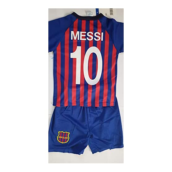 4F sport performance Maillot ET Short Foot Barcelone Barca Messi (10 Ans)